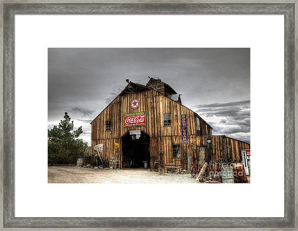Barn Of Antiques Framed Print