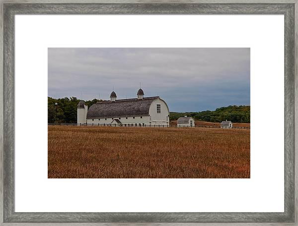 Barn On A Windy Day Framed Print