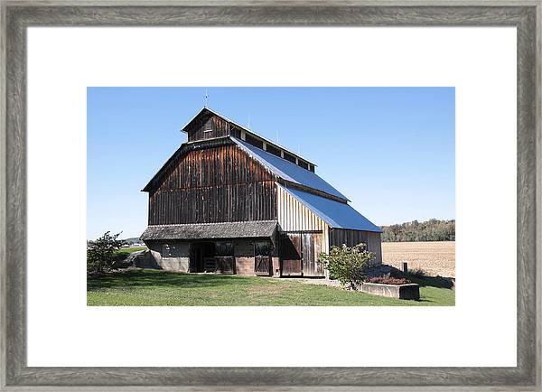 Barn On Hawkins Road Framed Print