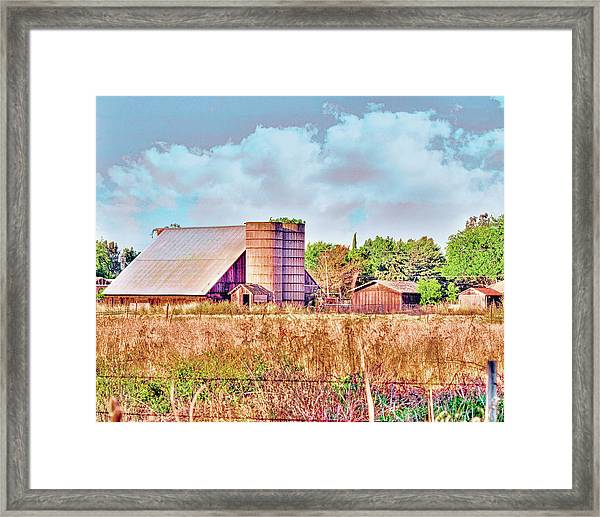 Barn On Interstate 5 Ef Framed Print