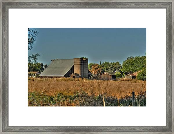 Barn On Interstate 5 Framed Print