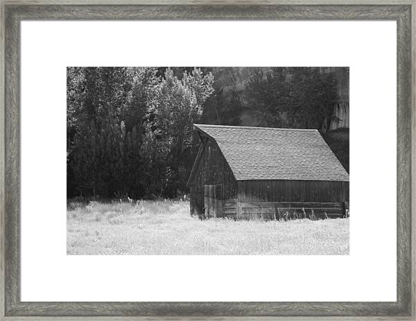 Barn Out West Framed Print