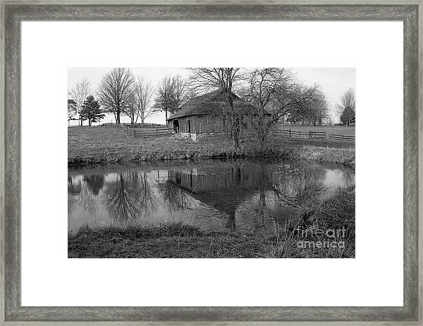 Barn Reflection Framed Print