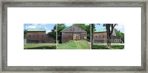 Barn Triptych Framed Print