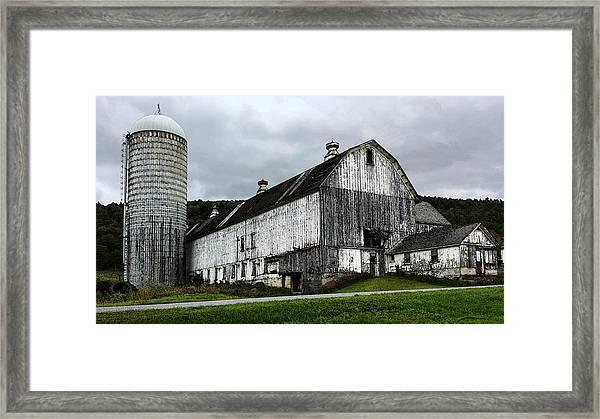 Barn With Silo Framed Print