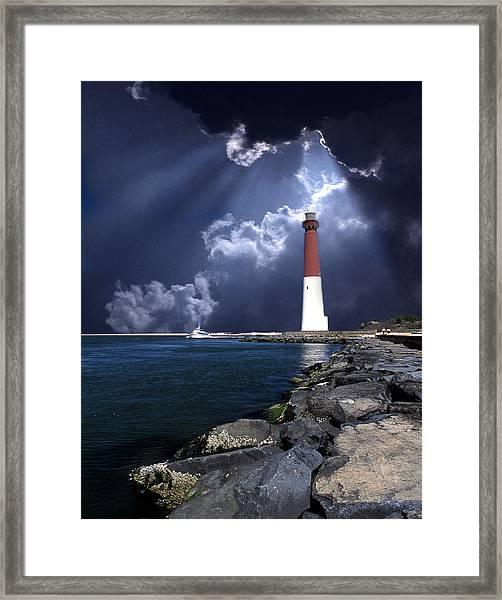 Barnegat Inlet Lighthouse Nj Framed Print