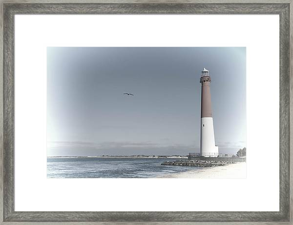 Framed Print featuring the photograph Barnegat Lighthouse by Beth Sawickie