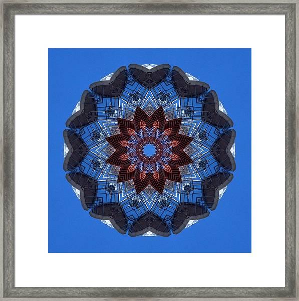 Barnegat Lighthouse Mandala Framed Print