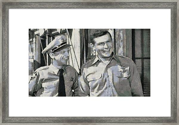 Barney Fife And Andy Taylor Framed Print