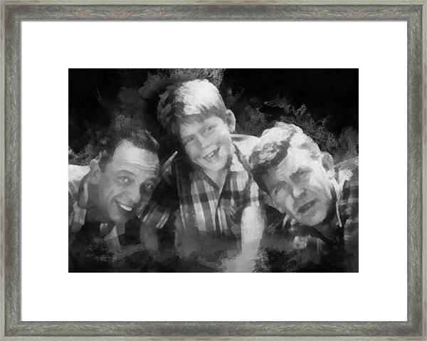 Barney Opie And Andy Framed Print