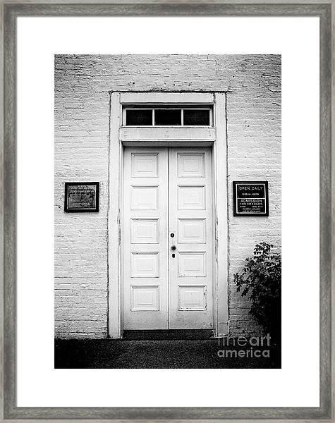 Barney's Doors Framed Print