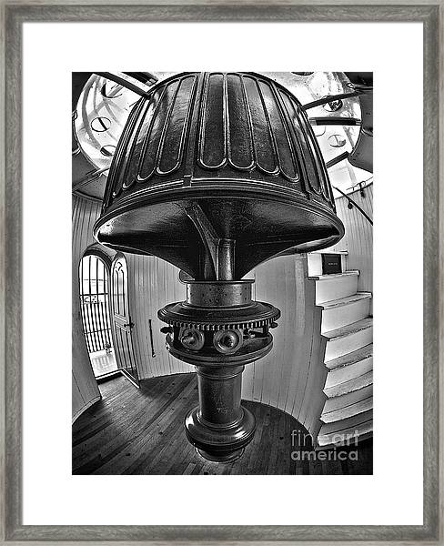 Barney's Gears In Black And White Framed Print