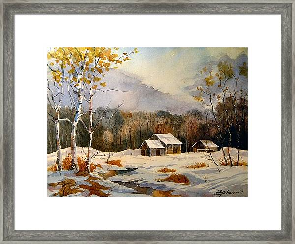 Barns On Canoe Lake Road Framed Print