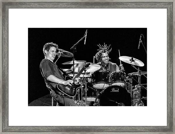 Barry Alexander Drumming For Johnny Lang Framed Print