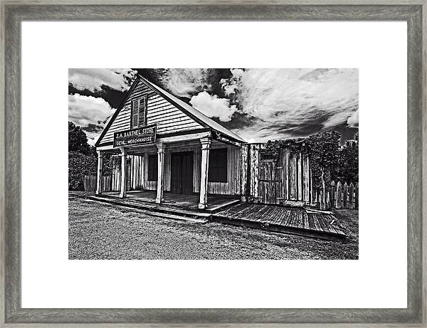 Barthel General Merchandise Store Framed Print