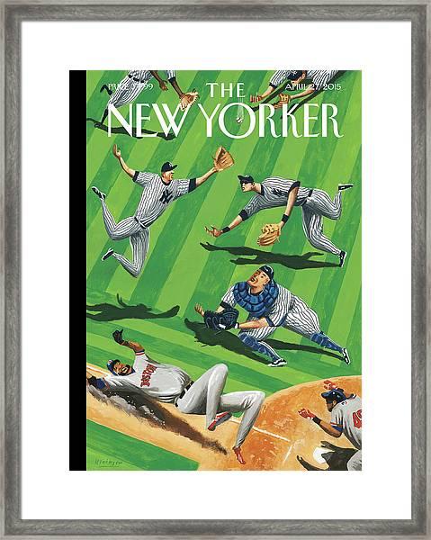 Baseball Ballet Framed Print