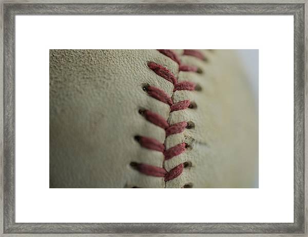 Baseball Macro Framed Print