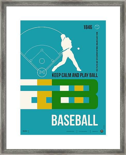 Baseball Poster Framed Print