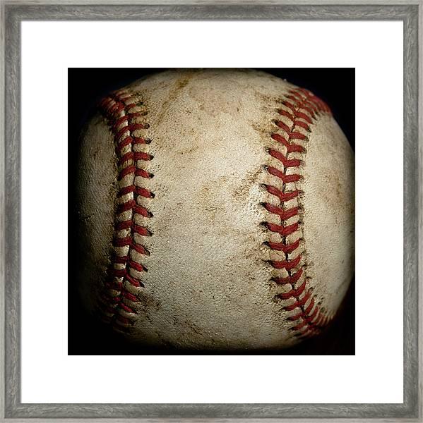 Baseball Seams Framed Print