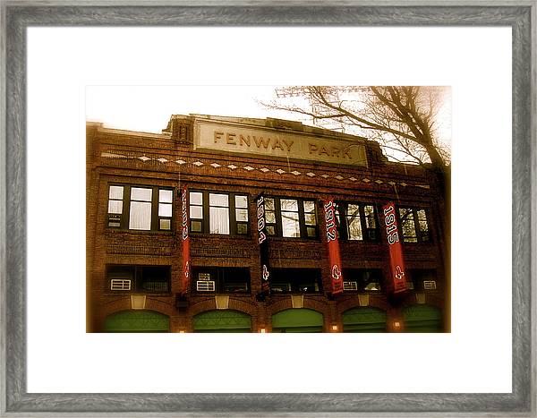 Baseballs Classic  V Bostons Fenway Park Framed Print