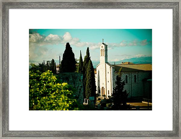 Framed Print featuring the photograph Basilica In Assisi  by Raimond Klavins