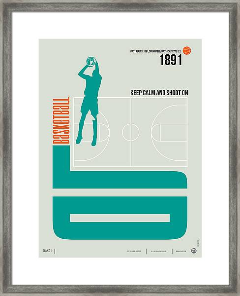 Basketball Poster Framed Print