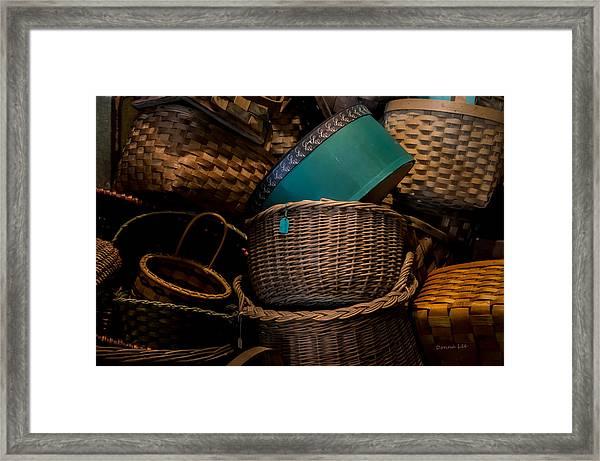 Baskets Galore Framed Print