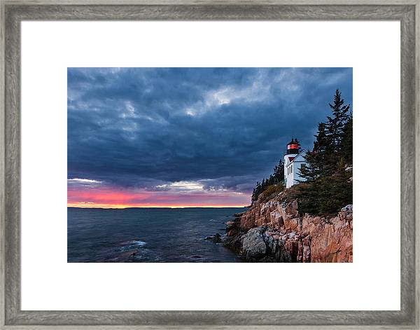 Bass Harbor Attitude Framed Print