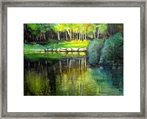 Bass Lake Reflection Framed Print