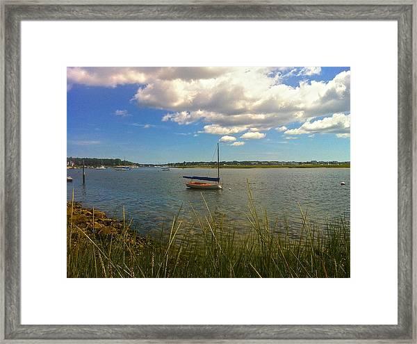 Bass River Boat Framed Print