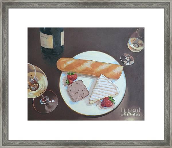 Bastille Day Happy Hour Framed Print