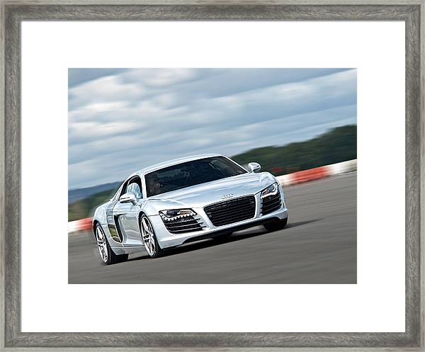 Bat Out Of Hell - Audi R8 Framed Print