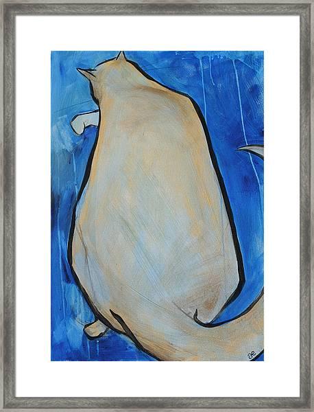 Bathing In Blue  Framed Print