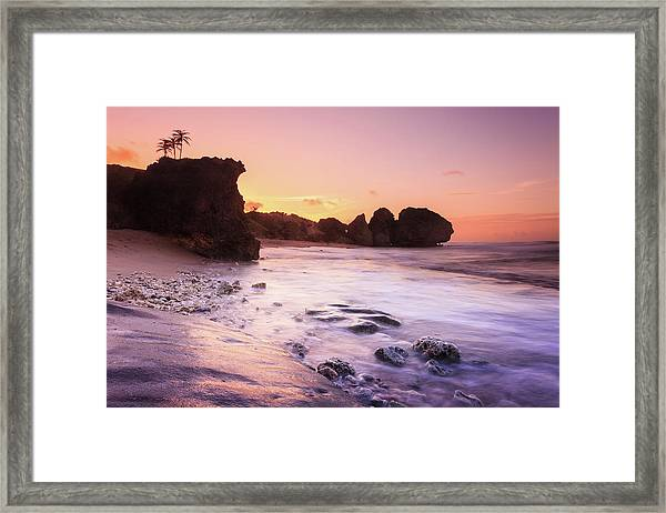 Bathsheba Beach Framed Print