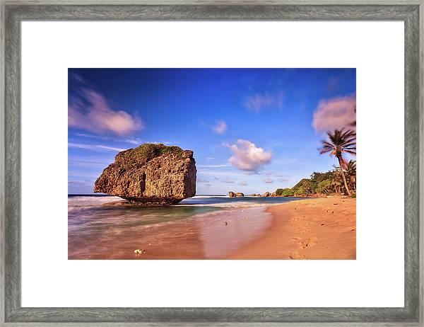 Bathsheba Rock, Barbados Framed Print