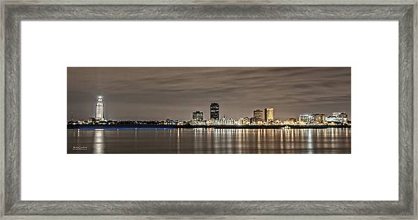 Baton Rouge Skyline Framed Print