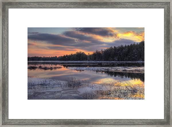 Batsto Lake Sunset 2 Framed Print