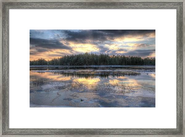 Batsto Lake Sunset1 Framed Print
