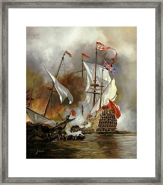Battaglia Sul Mare Framed Print