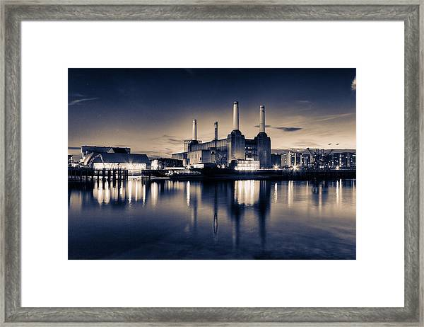 Battersea Toned Framed Print