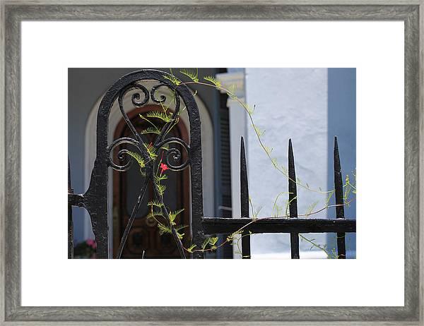Battery Gate Framed Print
