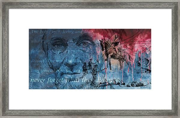 Battle Of Gettysburg Tribute Day Three Framed Print