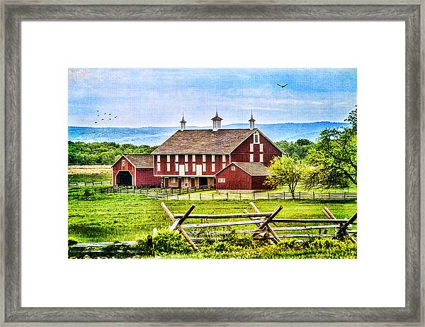 Battlefield Barn Framed Print