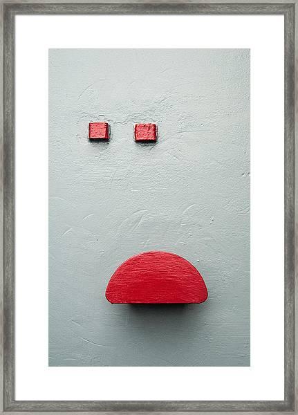 Battleship Abstract Framed Print