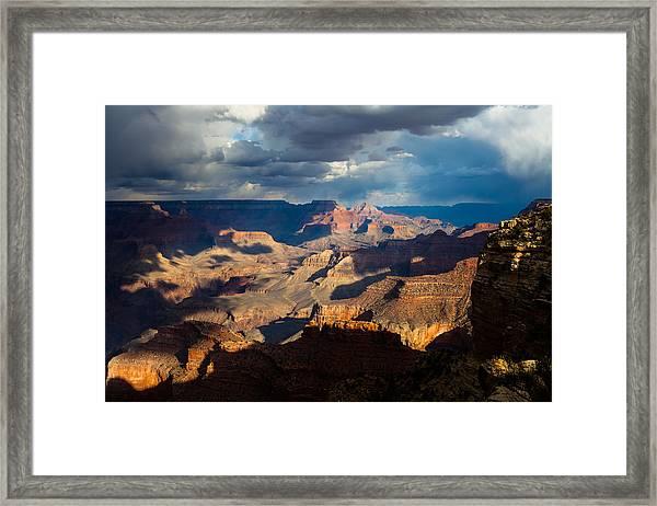 Battleship Rock In The Shadows Framed Print