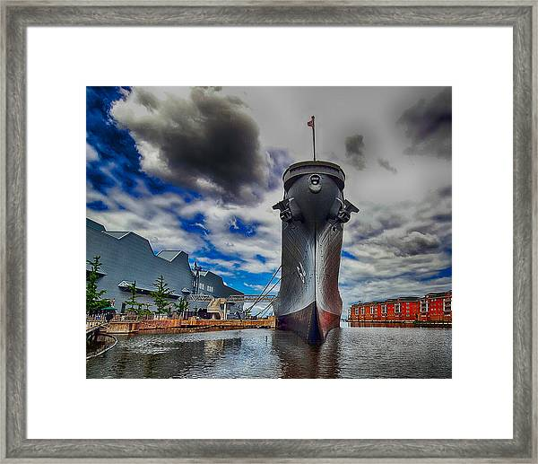 Battleship Wisconsin Framed Print