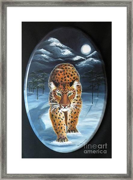 Batukhan Snow Leopard Framed Print