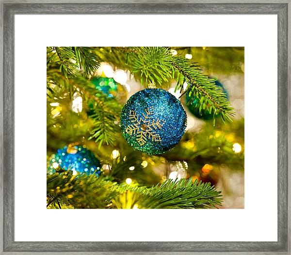 Bauble In A Christmas Tree  Framed Print