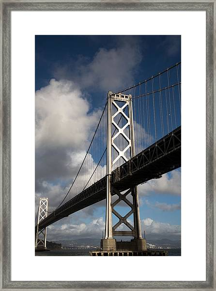 Bay Bridge After The Storm Framed Print