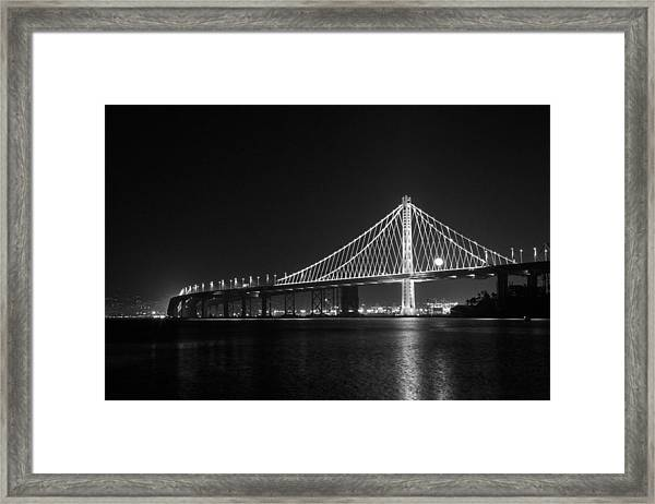 Bay Bridge Moon Framed Print
